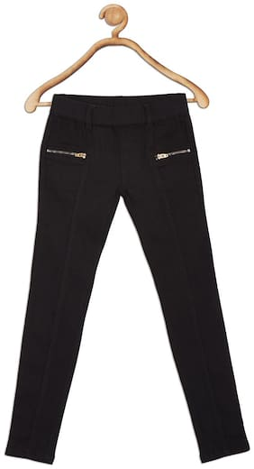 612 League Basic Straight fit Jeans for Girls - Black