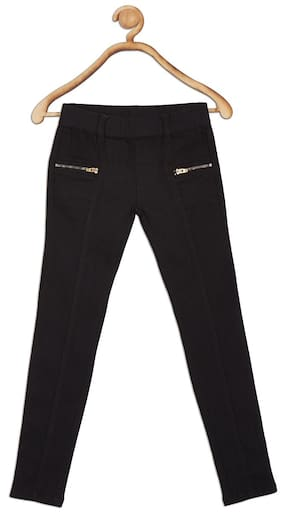 612 League Girl Solid Jeans - Black