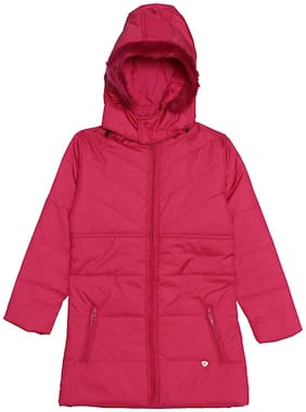 612 League Girl Cotton Solid Winter jacket - Pink