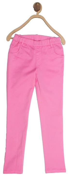 612 League Girl Solid Jeans - Pink