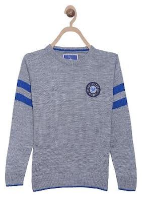 612 League Boy Acrylic Solid Sweater - Grey