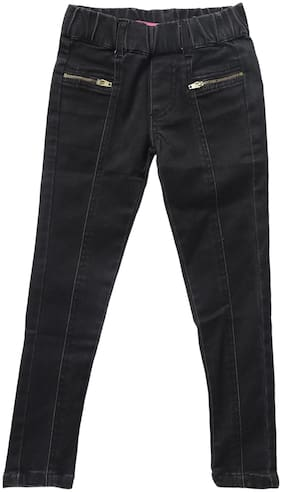 612 League Basic Slim fit Jeans for Girls - Black