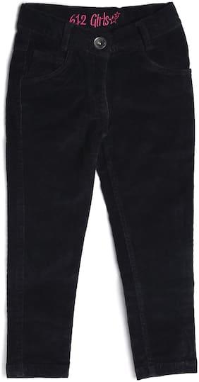 612 League Girl Cotton Trousers - Black