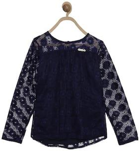 612 League Girl Cotton Solid Top - Blue