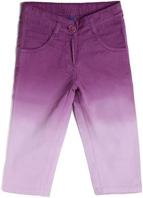 612 League Girl Cotton Solid Regular shorts - Purple