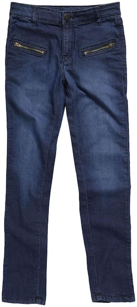 612 League Basic Slim fit Jeans for Girls - Blue