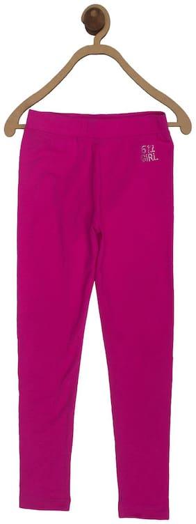 612 League Cotton Solid Leggings - Pink
