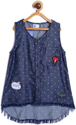 612 League Girl Cotton Printed Top - Blue