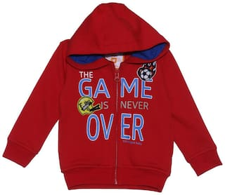612 League Unisex Cotton Solid Sweatshirt - Red