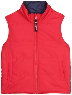 612 League Boy Cotton Solid Winter jacket - Red