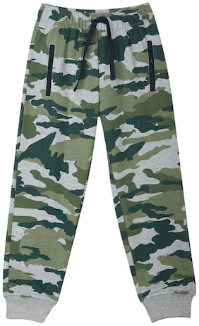 612 League Boy Printed Trousers - Green