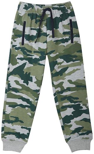 612 League Boy Printed Trousers - Green