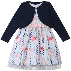 612 League Multi Cotton Full Sleeves Knee Length Princess Frock ( Pack of 2 )