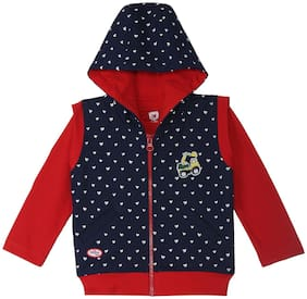 612 League Baby Boy Cotton Solid Winter Jacket - Blue