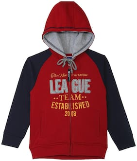 612 League Boy Cotton Printed Sweatshirt - Red