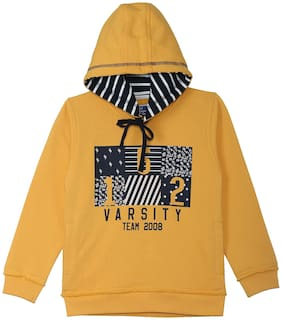 612 League Boy Cotton Printed Sweatshirt - Yellow