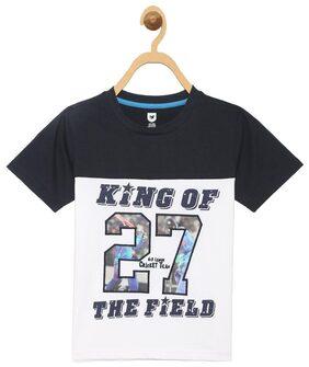 612 League Boy Cotton Printed T-shirt - White