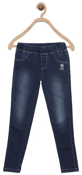 612 League Girl Solid Jeans - Blue