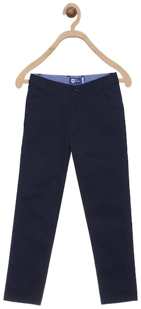 612 League Boy Solid Trousers - Blue