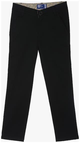 612 League Boy Solid Trousers - Black