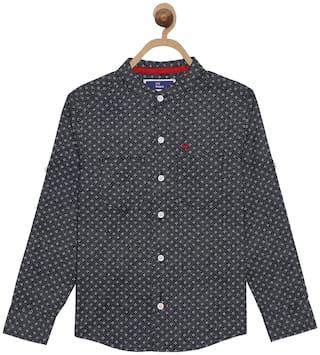 612 League Boy Cotton Checked Shirt Blue