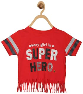 612 League Girl Cotton Solid Top - Red