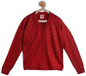 612 League Girl Cotton Solid Sweatshirt - Red