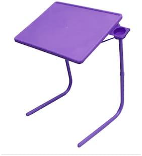 6ENTERPRISES Rvold Table Mate Voilet Adjustable Folding Table With Cupholder