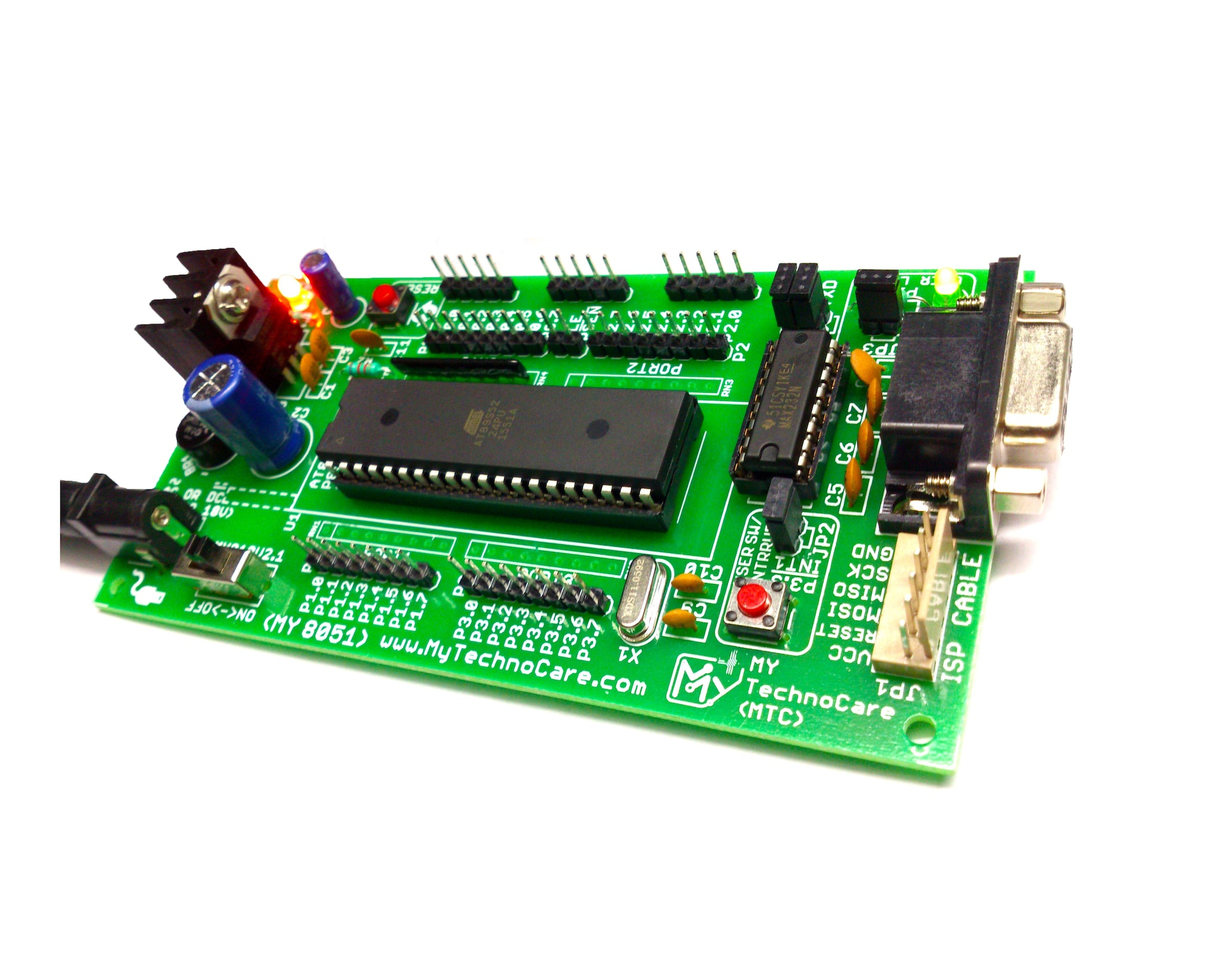 Buy 8051 Microcontroller Kit Diy Project Development Board With Circuit Diagram Of Atmel At89s52 Max232 Ic Rs232 My Technocare Free Shipping Online At Low Prices In
