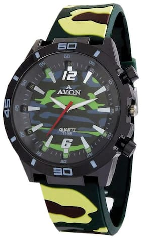 A Avon Army Color Analog Kids Watch - For Boys