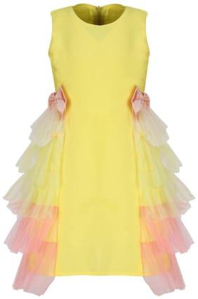 Yellow A-Line Dress