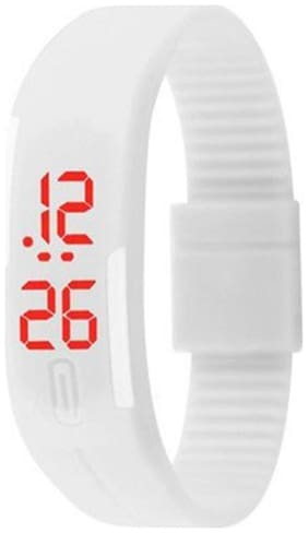 Aadishwar Creations LED Watches Unisex Silicone RubberDigital Watches Bracelet Wristwatch - color available