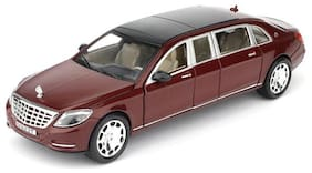Aarav 1:24 Scale Die-Cast Mercedes Maybach S 600 Pull Back with Headlights Metal car for kids (Multicolor)