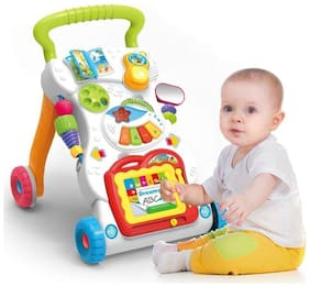 Aarav Children Walker with Music Lights and Developmental Activities for Kids (Multicolor)
