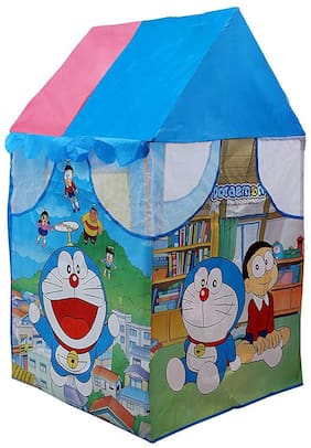 Little Rock Doraemon Pipe Play Tent House for Kids Indoor And Outdoor Tent (Multicolor)