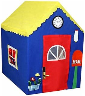 Aarav My House Play Tent Indoor And Outdoor Foldable Play Tent For Kids (Multicolor)