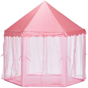 Aarav Princes Castle Tent House Indoor and outdoor hexagon shaped play tent (Multicolor)