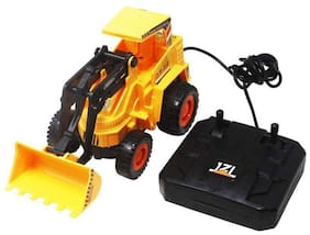 Aarav Wired Remote Control Battery Operated JCB Crane Truck Toy for kids (Small Size)