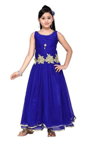243783719 Buy Aarika Girl s Net Fabric Self Design Gown (4 - 5 Years) Online ...