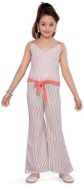 Aarika Cotton Striped Multi Jumpsuit For Girls