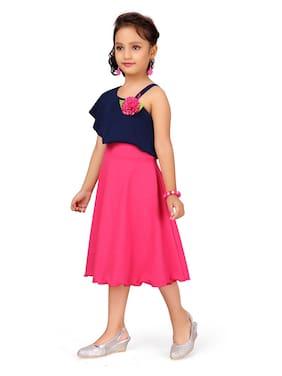 Blue;Pink Princess Frock