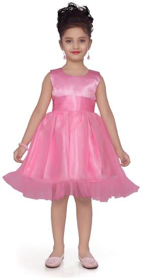 Aarika Baby girl Cotton Solid Princess frock - Pink