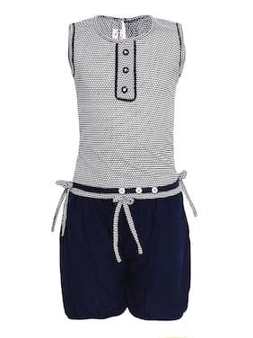 Aarika Girl Nylon Top & Bottom Set - Blue