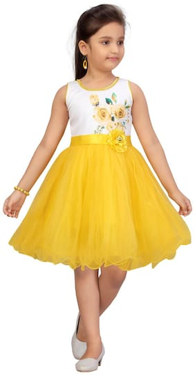 Yellow Fit & Flare Frock