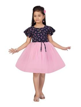 Navy Blue;Pink Princess Frock