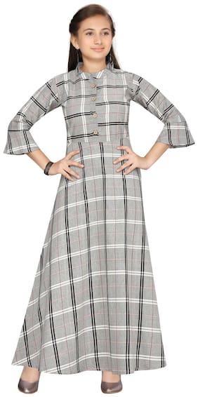 Grey A-Line Dress