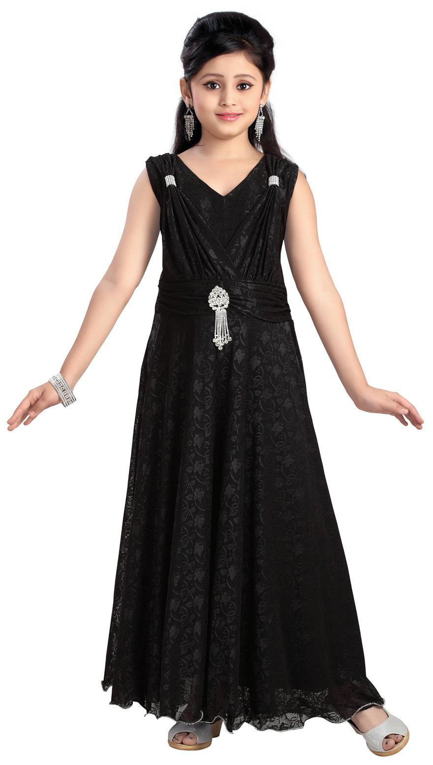 d296c7a76 Buy Aarika Girl s Birthday Special Premium Net Gown (7 - 8 Years ...