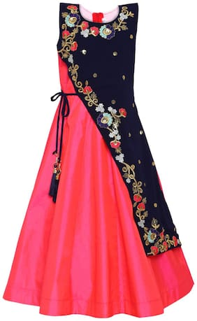 Red;Blue Princess Frock