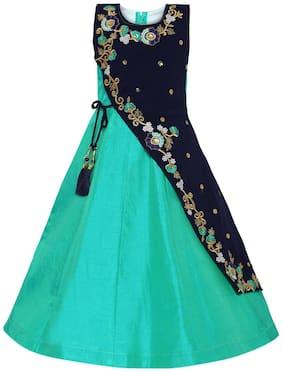 Green;Blue Princess Frock