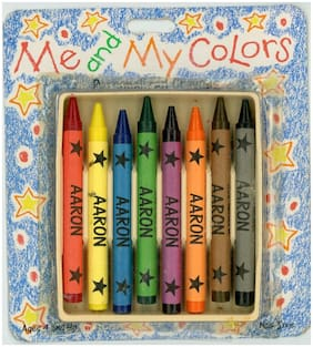 """Aaron"" Me and My Colors Personalized Crayons NOS #8 Non-Toxic Pre-Made"